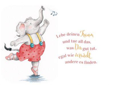 Elefant tanzt vor Freude