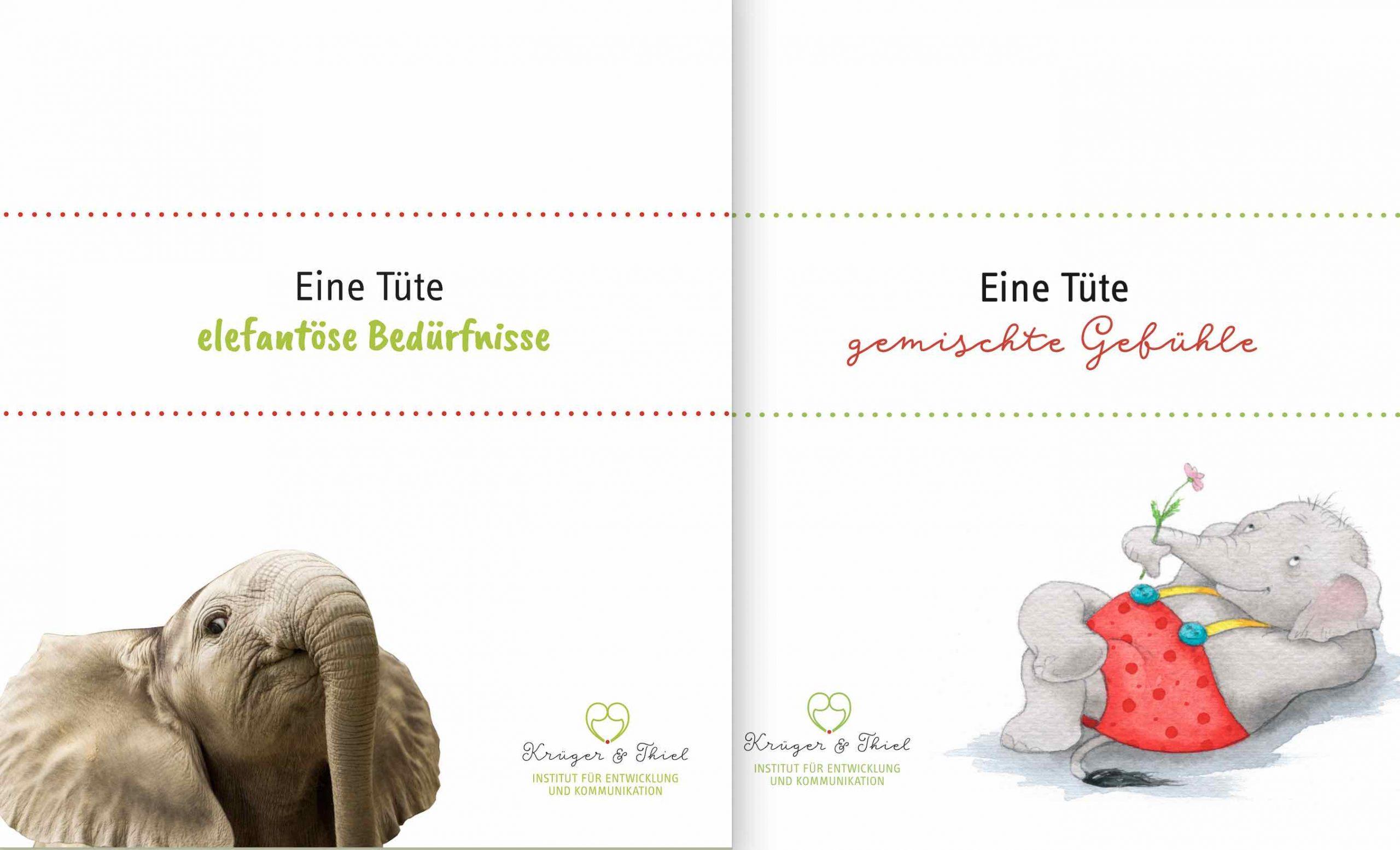 Gemischte elefantöse Tüten