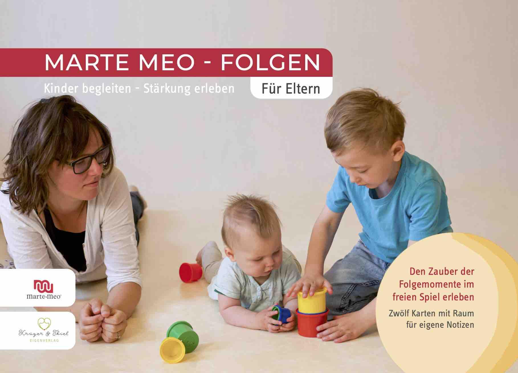 """Marte Meo Elternkarten Titel """"Der Zauber der Folgemomente"""""""